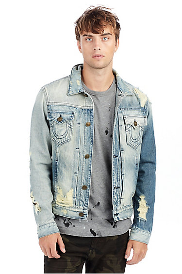 denim jackets for men mens distressed dylan denim jacket OZMHZYB