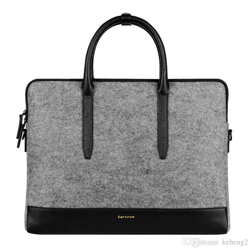 designer laptop bags 2018 wholesale 11.6 13.3 15.4 inch fancy designer laptop bag women felt  laptop shoulder JZVBLPP