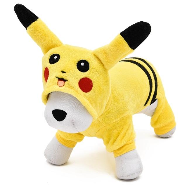 dog clothes new 2017 cute cartoon pikachu design pets clothes costume funny dog clothing  for pet VFZQLQS