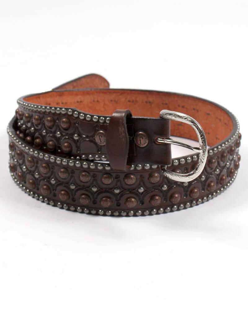 double j saddlery® menu0027s copper studded belt MUKRFWZ