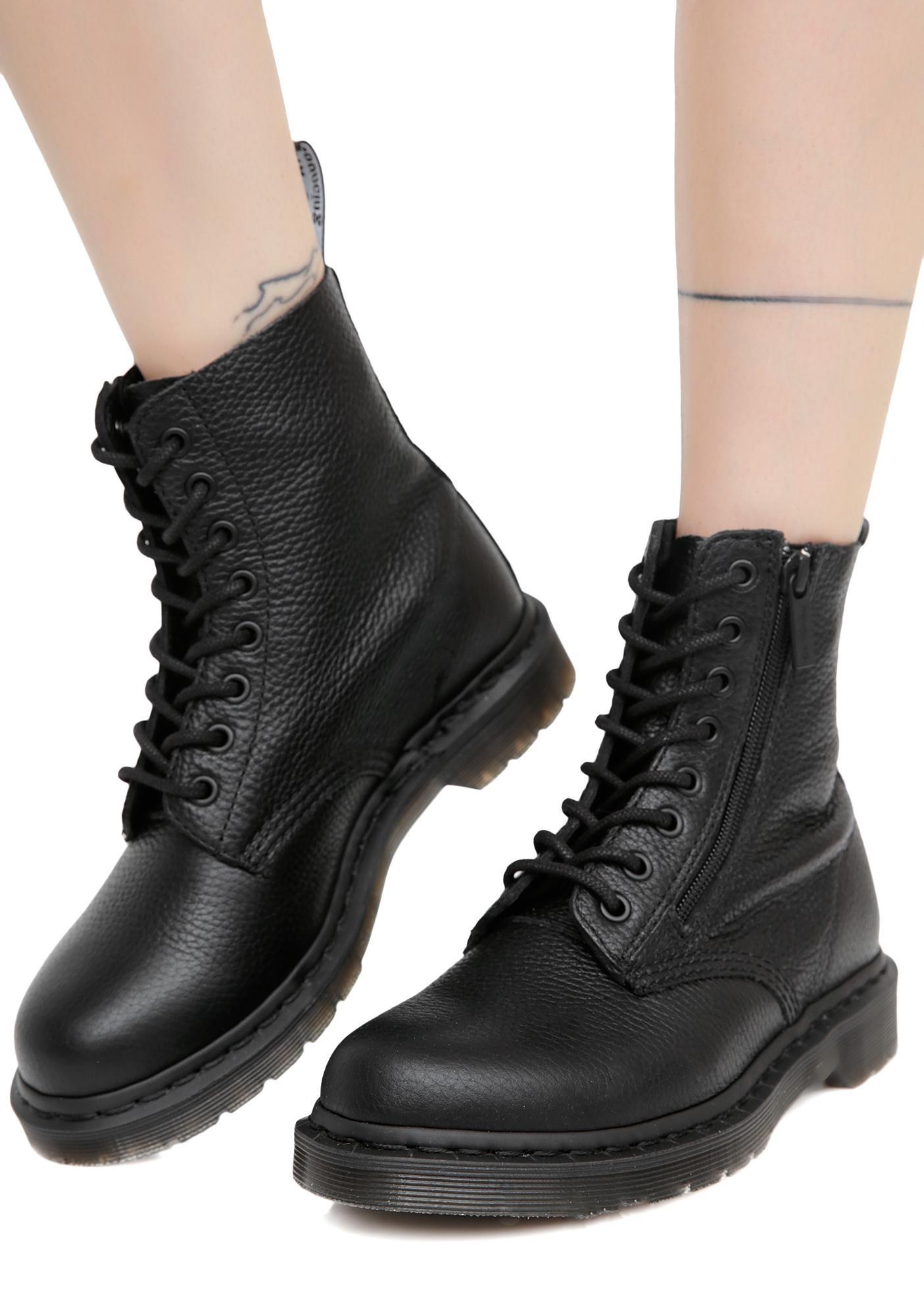 Dr Martens Boots dr. martens black zip pascal boots IATXBUP