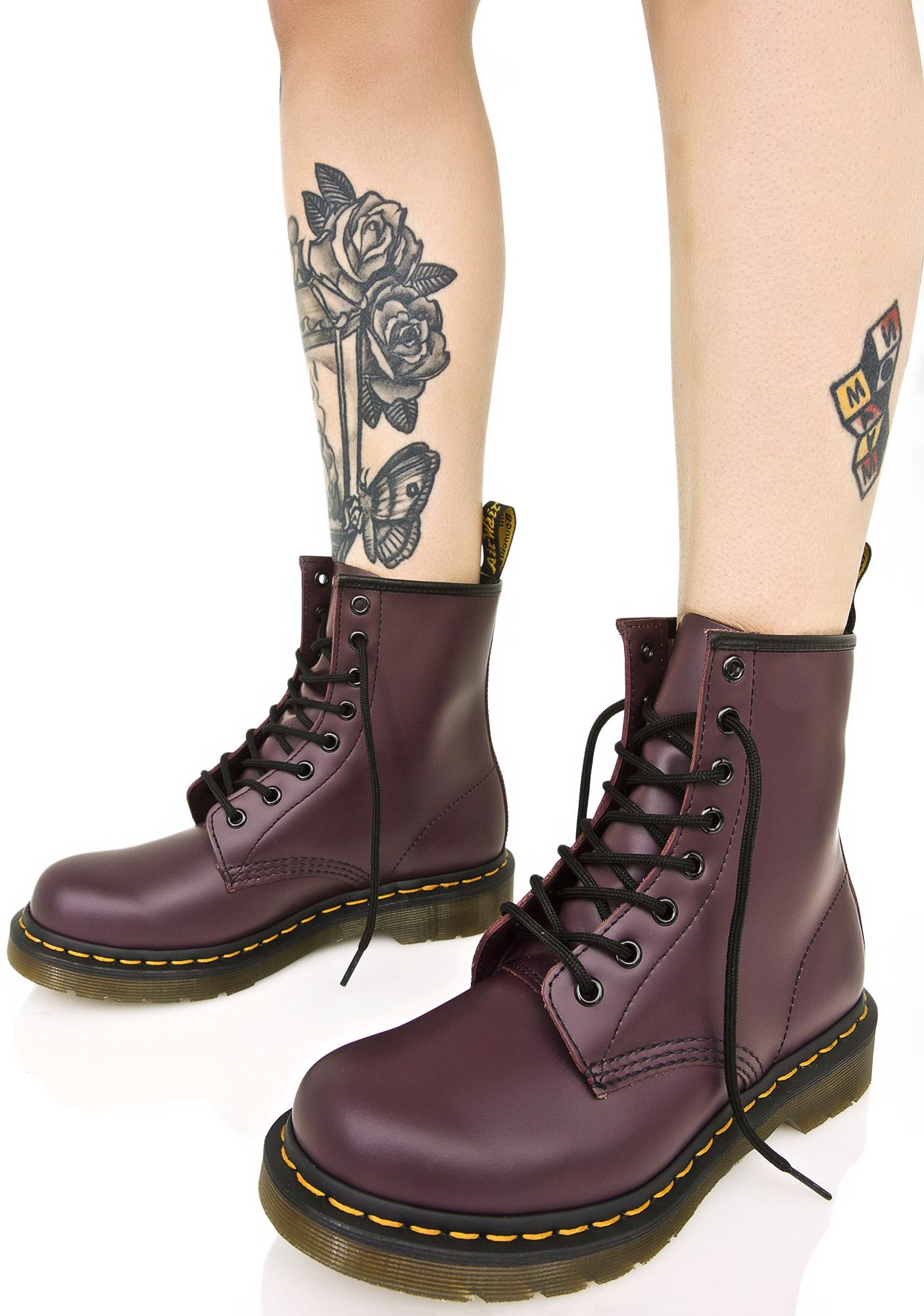 Dr Martens Boots dr. martens royal purple 1460 8 eye boots EVKHEKE
