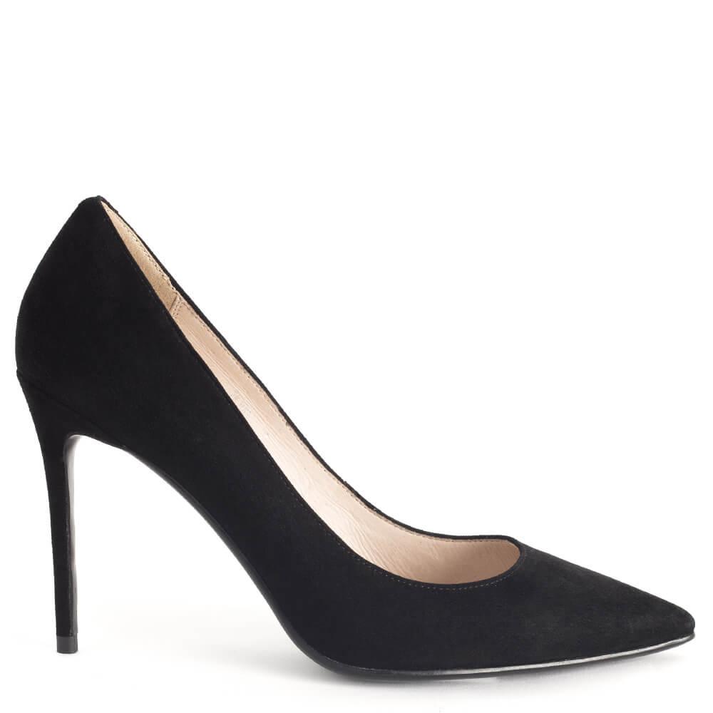 ella black suede heels DZUGIBS