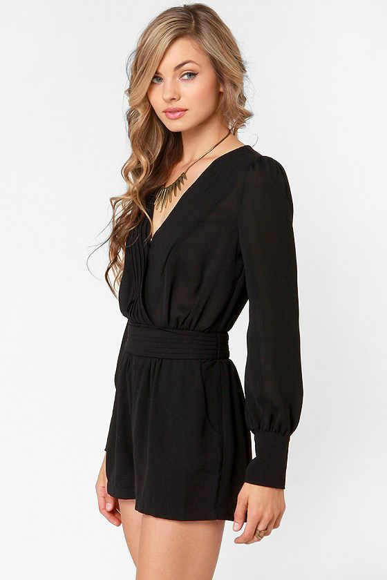 even better black long sleeve romper at lulus.com! ZUAZLPH