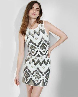 Express dresses southwestern sequin embellished sheath dress | express RZTYMID