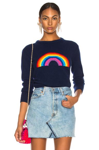 fashion clothing rainbow crewneck sweater ... TYBLEMI
