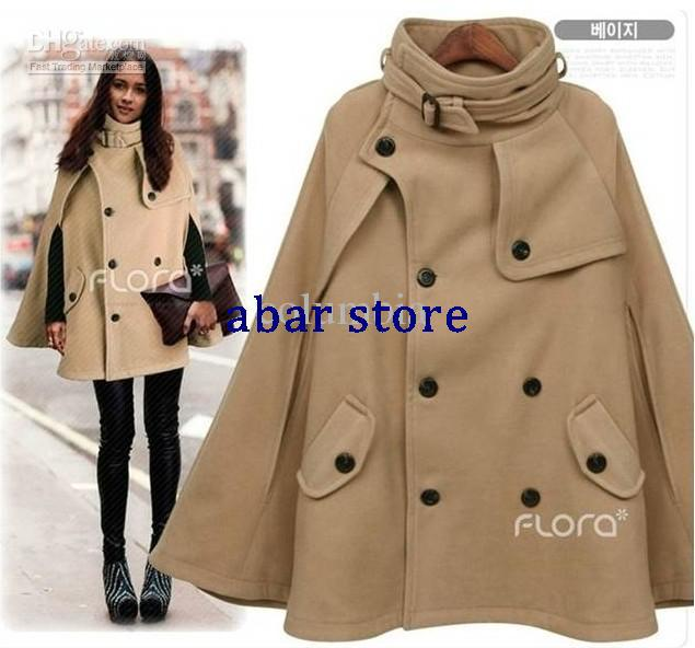 fashion Korea fashion korea coat womenu0027s poncho coat winter long coat clothes outerwear VPJMNXS