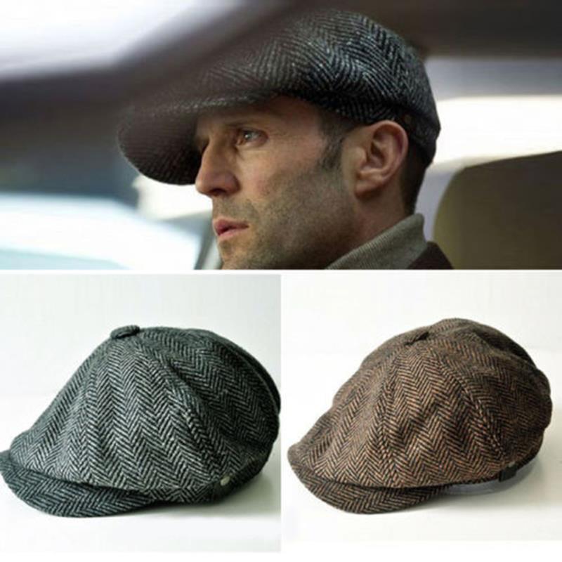 flat caps online cheap wholesale spring gentleman octagonal cap newsboy beret hat for  menu0027s jason statham WTPYSHE