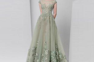formal dresses new design 2017 spring elegant evening dresses sheer neck cap sleeves  appliques beaded tulle NQOQHZV