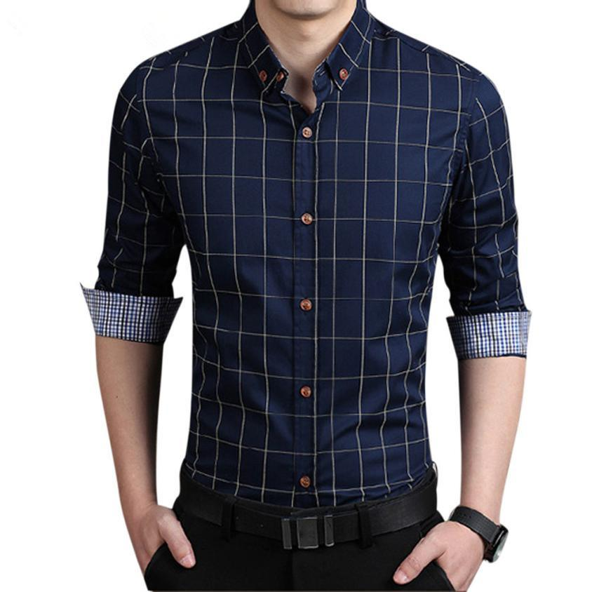 formal shirts for men 2018 wholesale fashion shirts men 2017 men shirts male plain formal dress  shirt long DTJUBBO