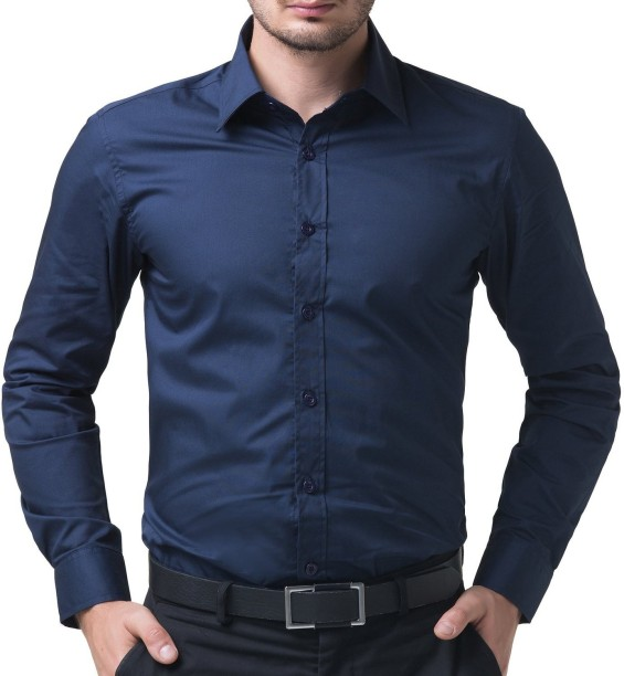 formal shirts for men being fab menu0027s solid formal rugby collar shirt TUZDXOT