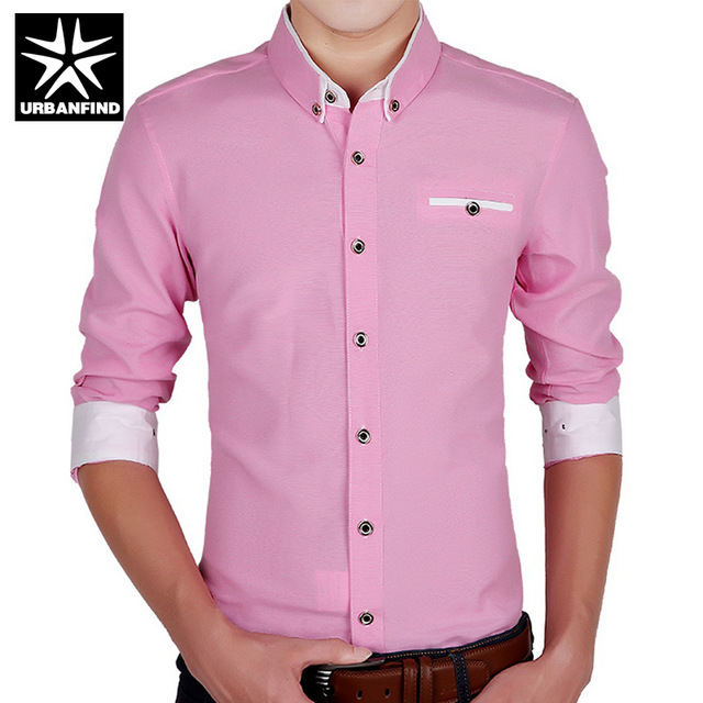 formal shirts for men business style men formal shirts solid color man casual shirts size m-4xl  turn down TPKKMDA