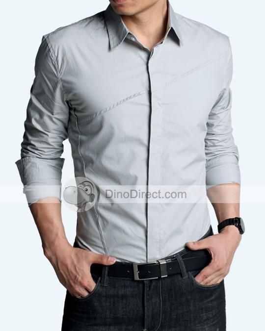 formal shirts for men kuegou fashion cotton men formal shirts - dinodirect.com TRSCGUL