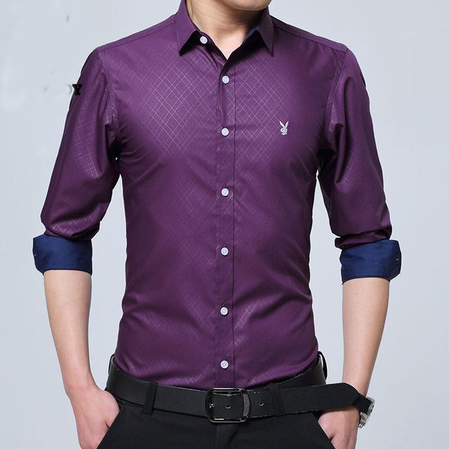formal shirts for men new fashion casual men shirt long sleeve mandarin collar slim fit shirt men  formal TSTFXNO