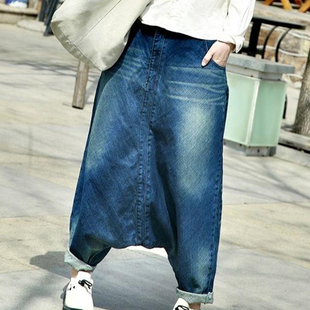 free shipping 2017 women hip hop streetwear baggy jeans boyfriend american  pants wide leg MUSPZWY