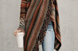 fringed crazy blanket cardigan DCNHZHQ