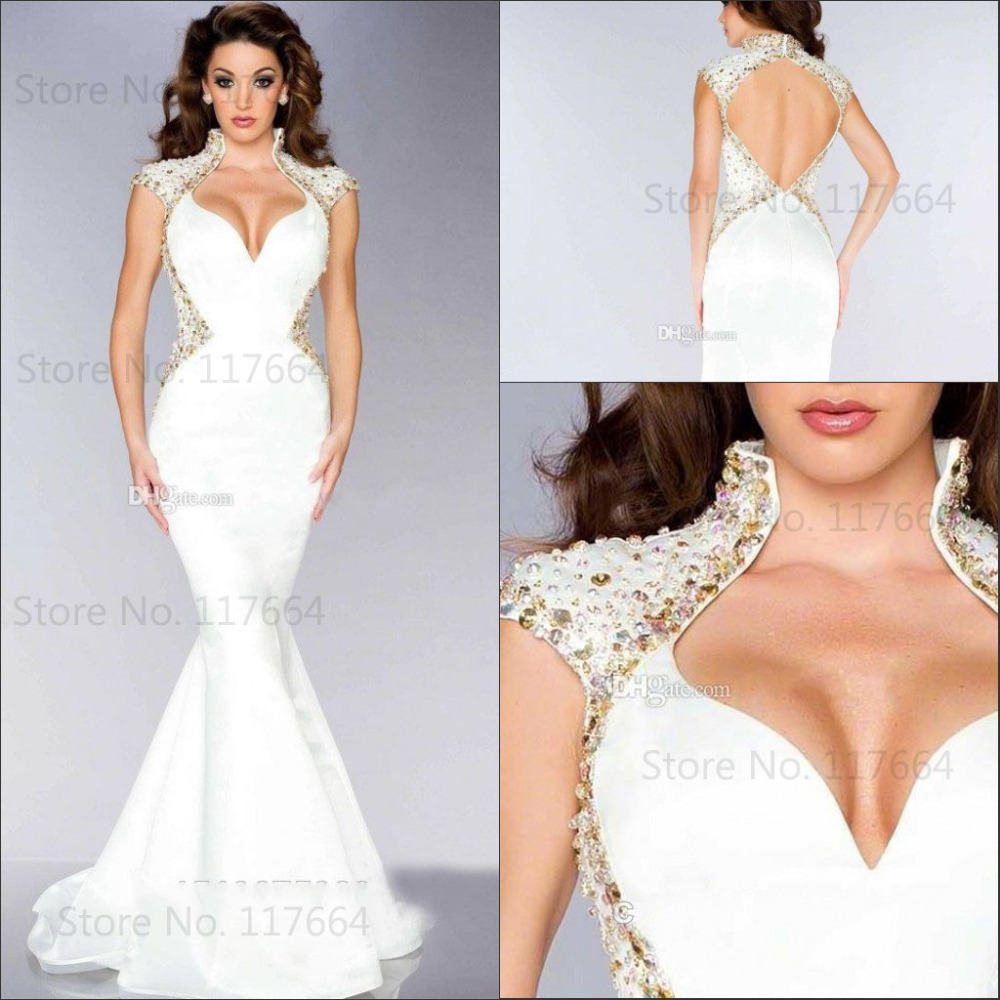 Glamorous dresses 2015 best selling glamorous mermaid sexy open back women formal evening  gowns evening dresses KUBVIOD