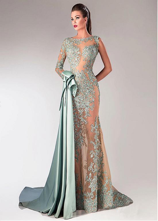 Glamorous dresses glamorous tulle u0026 taffeta bateau neckline sheath evening dresses with  beaded lace appliques ... ZPOTBPP