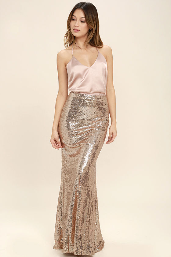 gold sequin skirts effervescent evening gold sequin maxi skirt KSBMCID