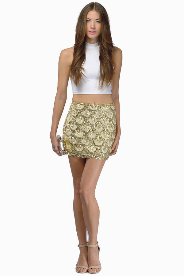 gold sequin skirts make a fashion statement with a gold skirt FVMZYNH