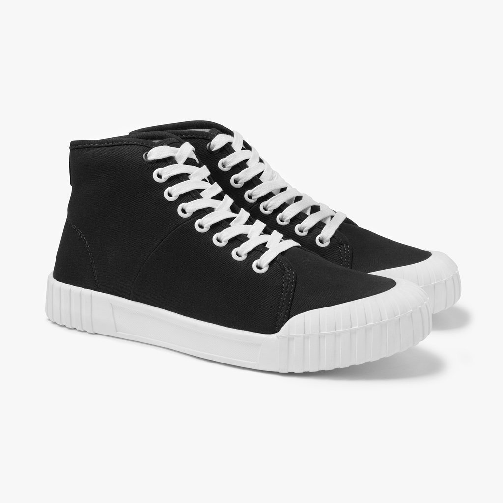 good news bagger black canvas high top baseball boots FNFLXVX