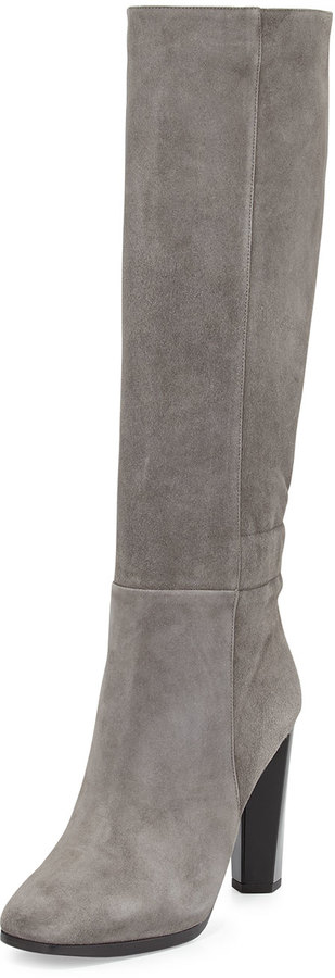 grey suede boots ... diane von furstenberg pagri suede over the knee boot gray TAGGTFK