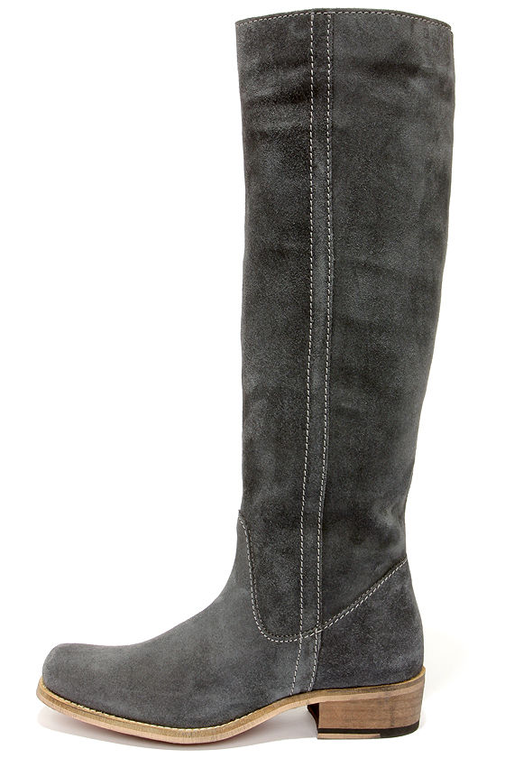 grey suede boots seychelles secretive grey suede leather riding boots SRJOSJU