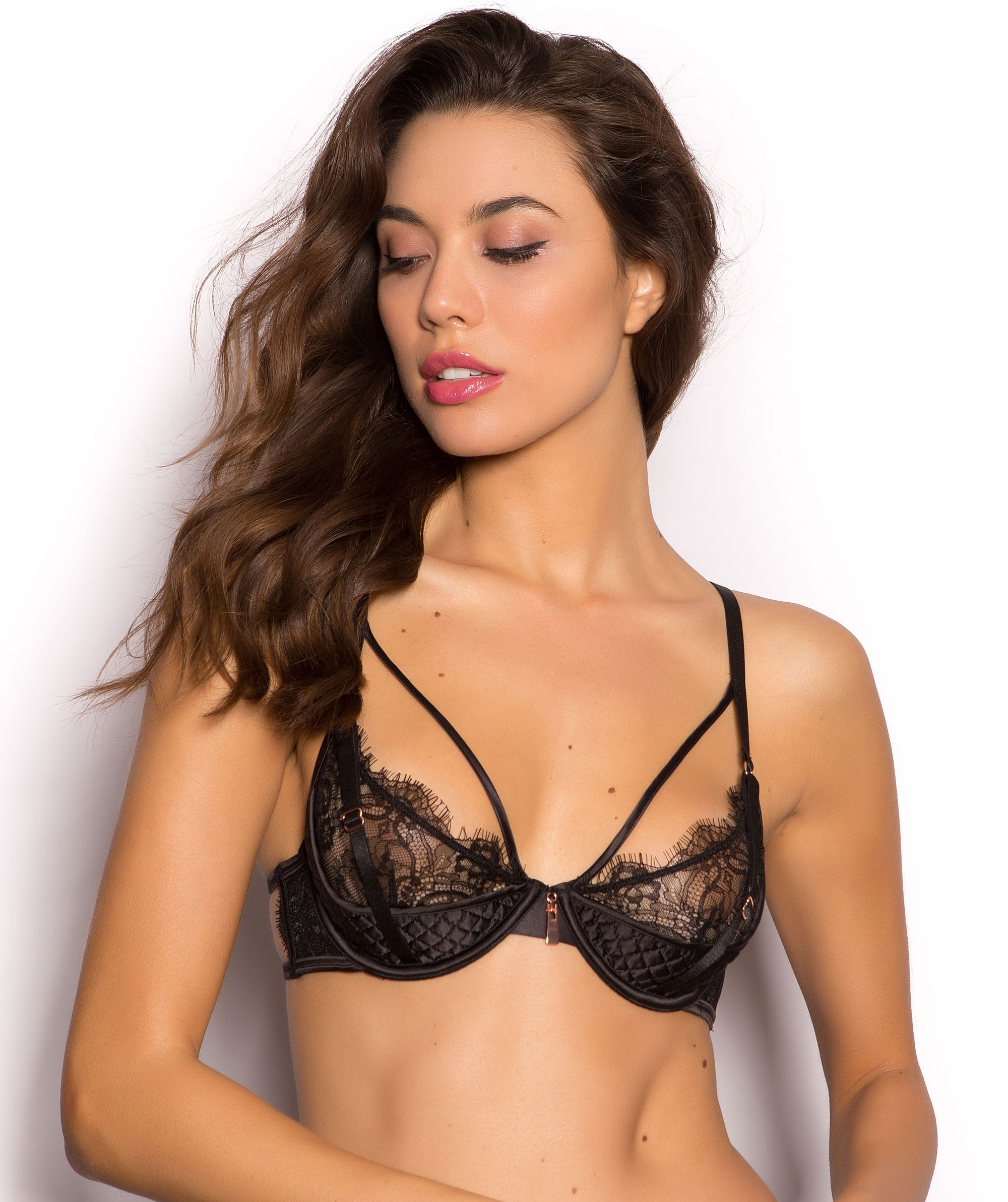 half cup bra hover to zoom QWFEBHL