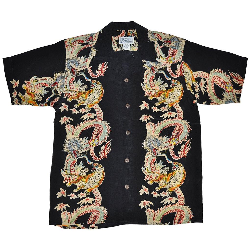 Hawaiian Shirt menu0027s dragon u0026 tiger hawaiian ... IVTUIOY