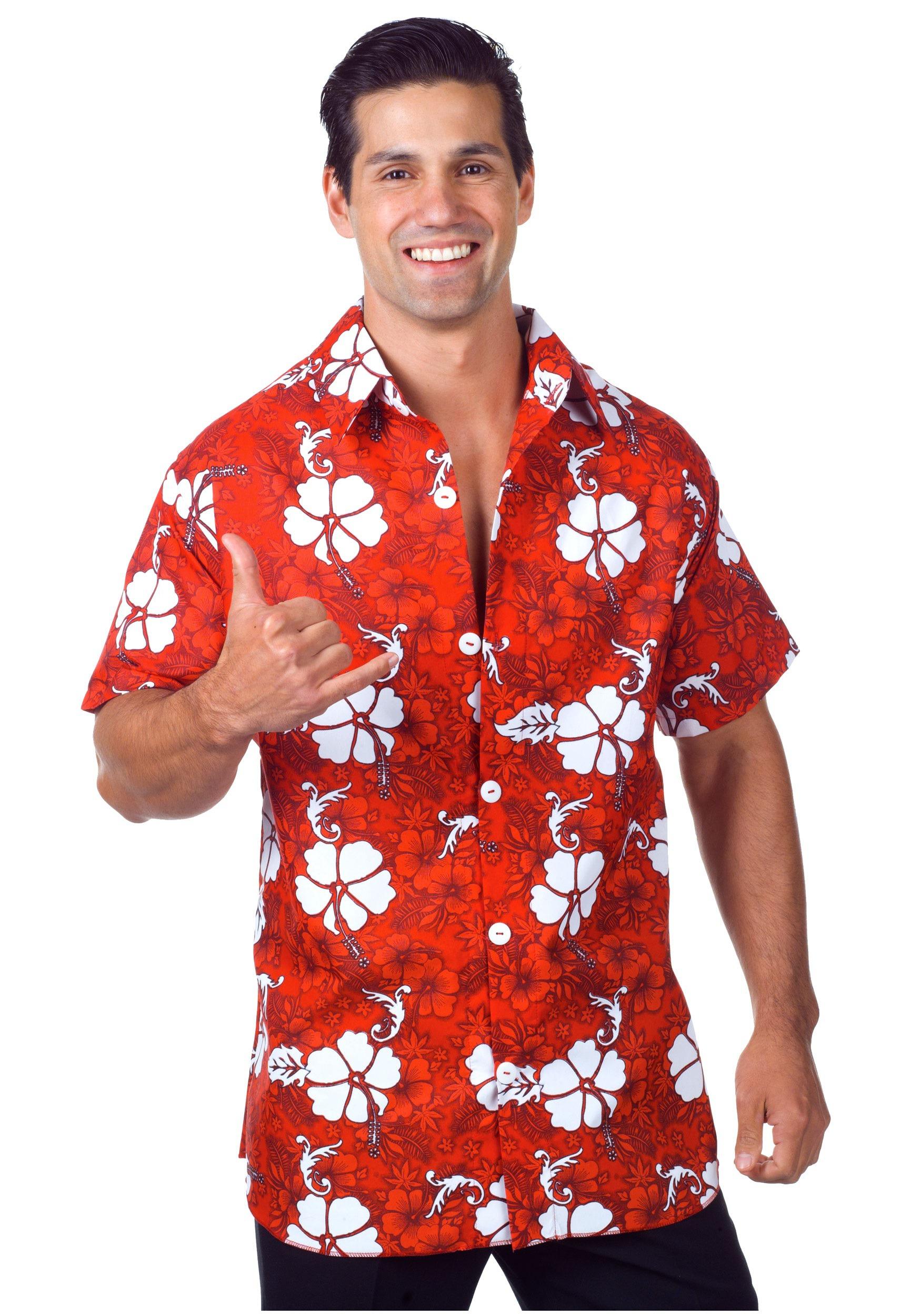 Hawaiian Shirt menu0027s red hawaiian shirt IYKANTB