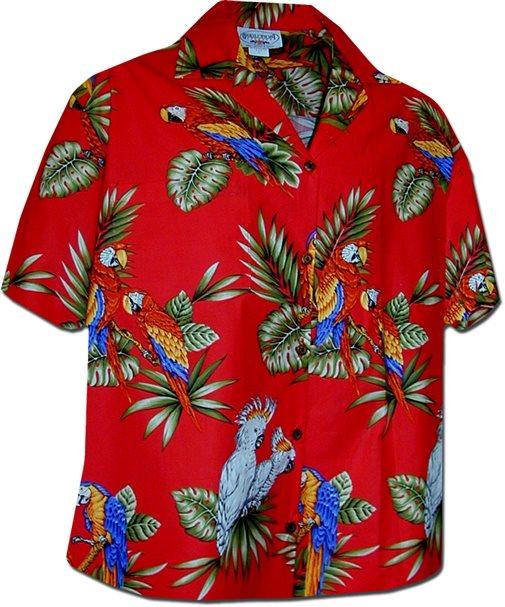 Hawaiian Shirt parrot red cotton womenu0027s hawaiian shirt GHSBAXK