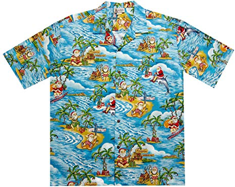 Hawaiian Shirt small blue exclusive christmas hawaiian shirt with santa surfing VSTNOMY