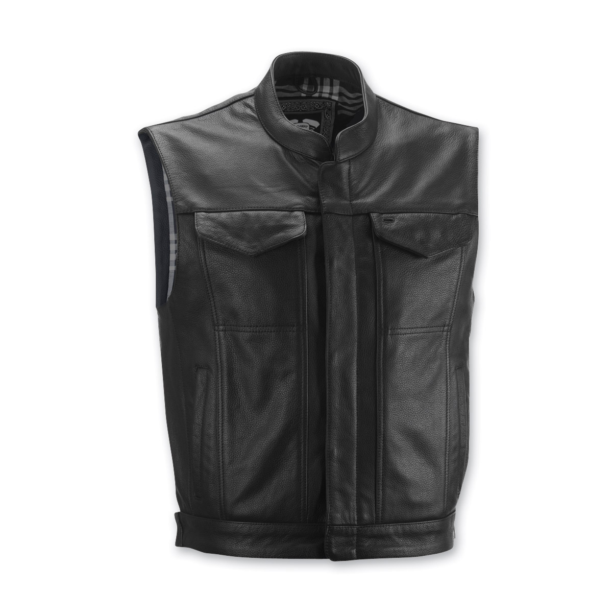 highway 21 menu0027s magnum black leather vest NNEDDEI