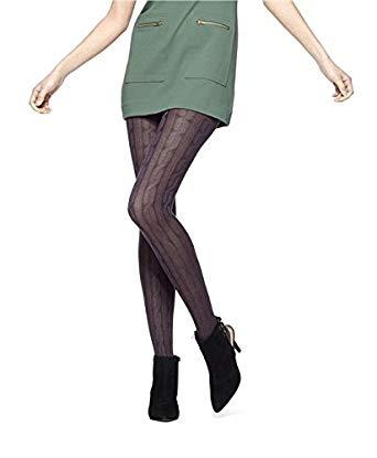 hue womenu0027s bold cable sweater tights, ivory, small/medium at amazon  womenu0027s clothing store: QEPXJQA