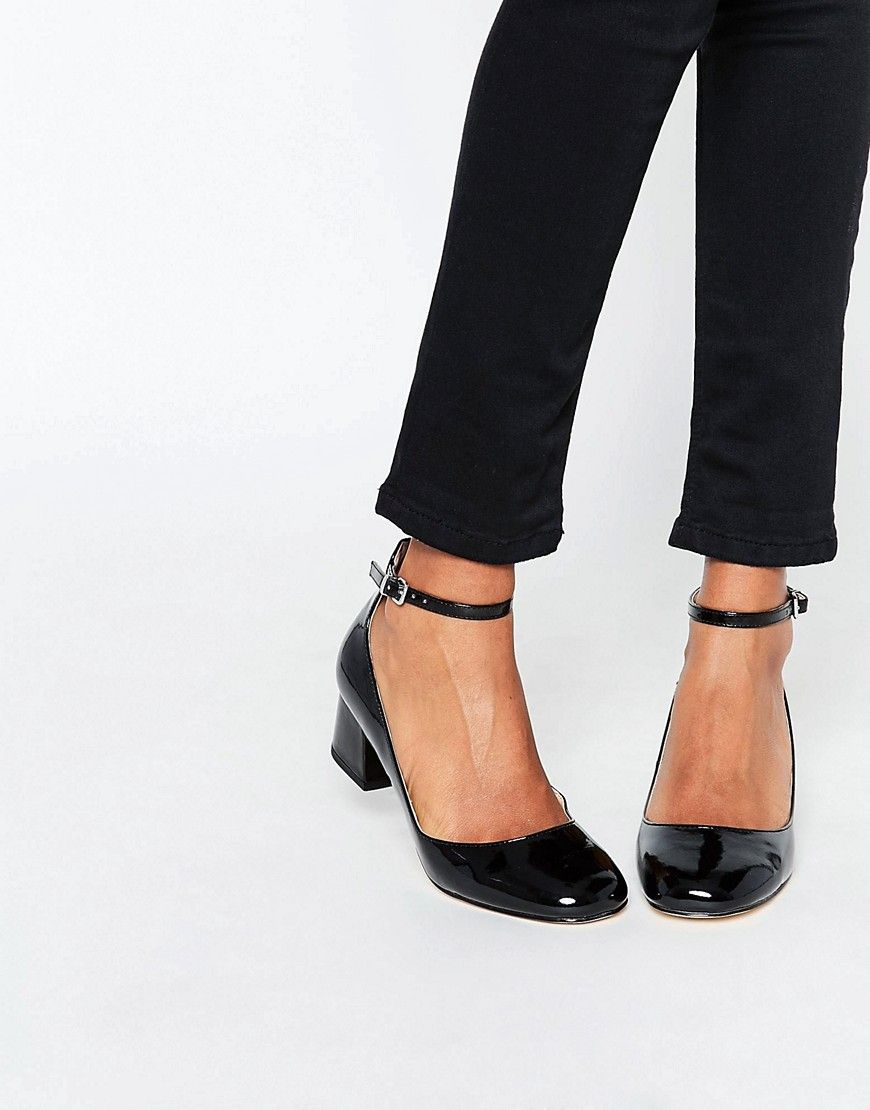 image 1 of miss kg amber black mid heeled ankle strap shoes LDIXIME