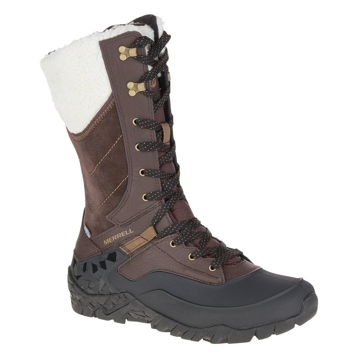 image of merrell aurora tall ice+ waterproof walking boots (womenu0027s) -  espresso CNFWFRA