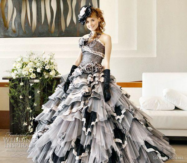 island bridal color wedding dresses collection YGJTNOQ