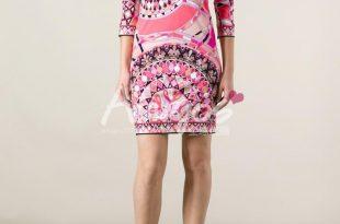 Italian fashion clothes dresses limited 2017 new italian ladiesu0027 fashion show fashionable v neck  printing slim knitted THHBYLV