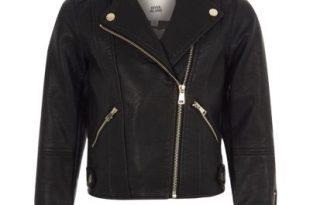 jackets for girls girls black faux leather biker jacket CCBSAZY