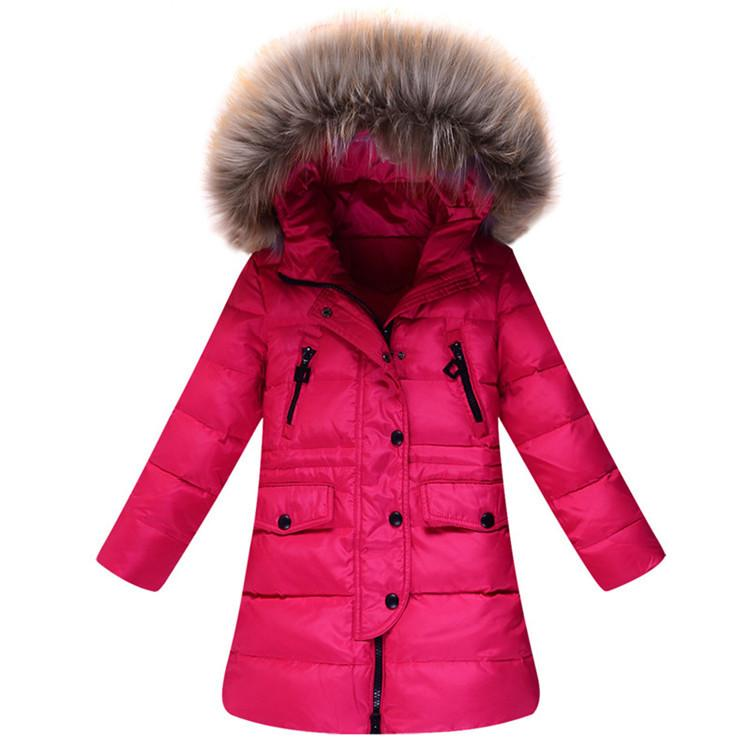 jackets for girls winter children down jackets teenage girls down winter jacket fur hooded  collar medium long GYXECME
