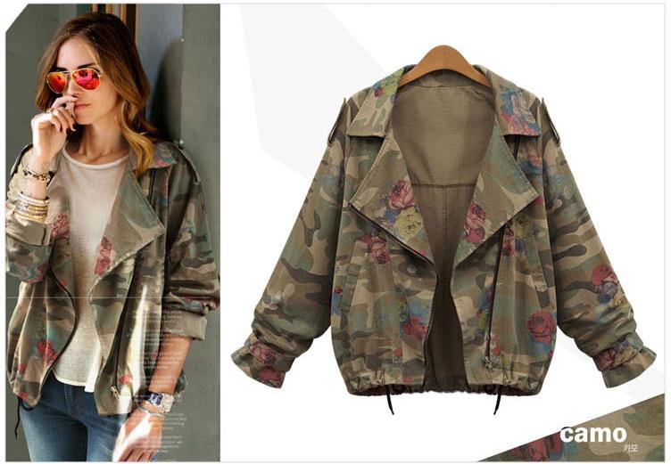 jackets for girls women plus size jacket girls camo coat 2016 spring new style fashion 5  sizes VJCRNIS