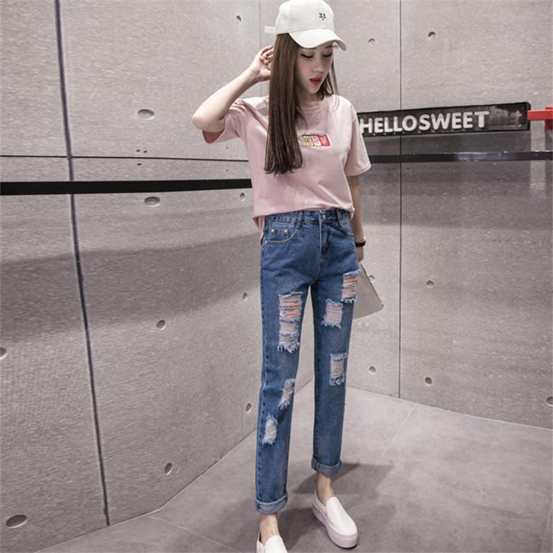 jeans fashion for women 2018 korean fashion womenu0027s ripped jeans fashion boyfriend jeans woman slim  hole denim pants XNUOKOK