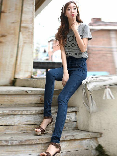 jeans fashion for women women fashion empire waist stretchy pencil jeans UDANUKJ