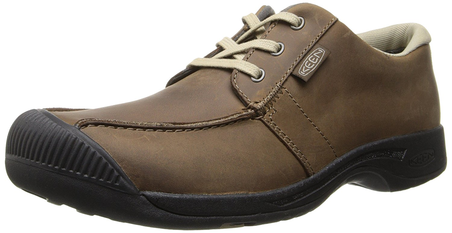 keen shoes for men keen mens reisen low magnet leather shoe with a super comfortable recycled  foam footbed KFQGIBO
