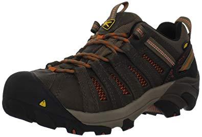 keen shoes for men keen utility menu0027s flint low steel toe work shoe,shitake/rust,7 ee KTYUXSN