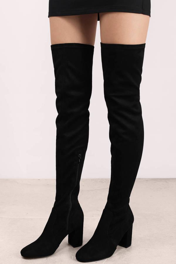 Knee high boot ane black suede boots ... USVSKCH