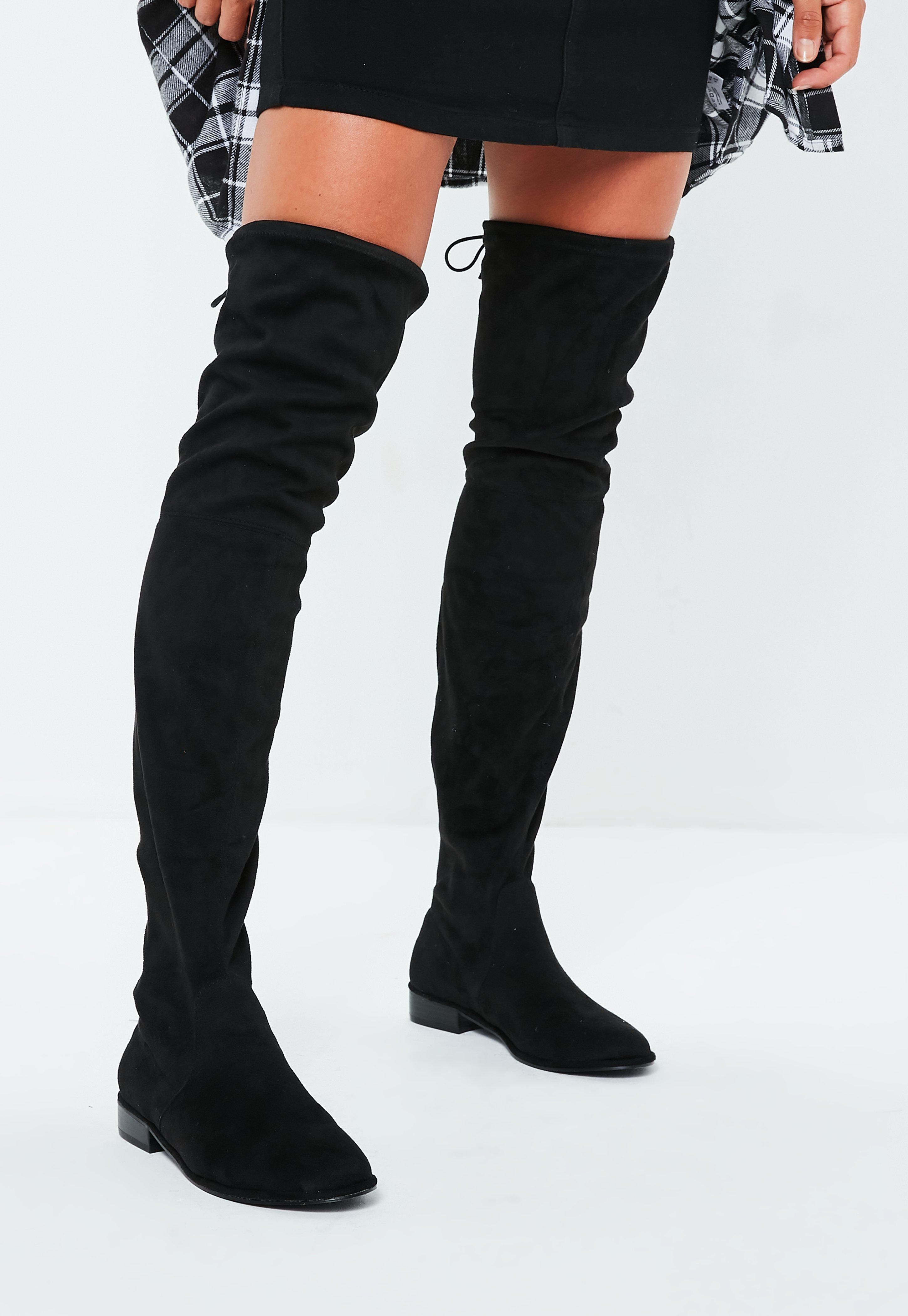 Knee high boot knee high boots, over the knee u0026 thigh high boots - missguided JIZIACZ