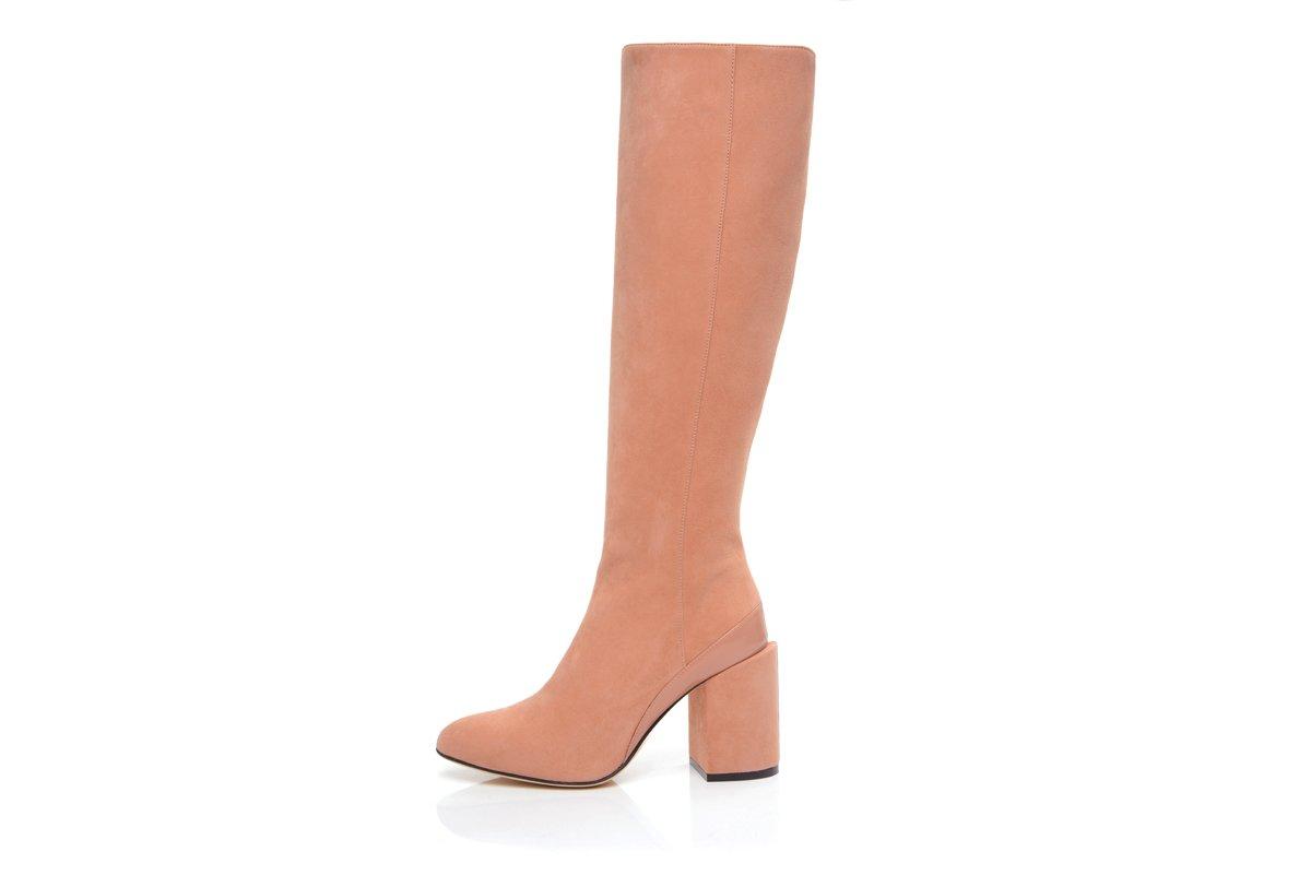 Knee high boot save elle knee boot, blush YCULUEQ