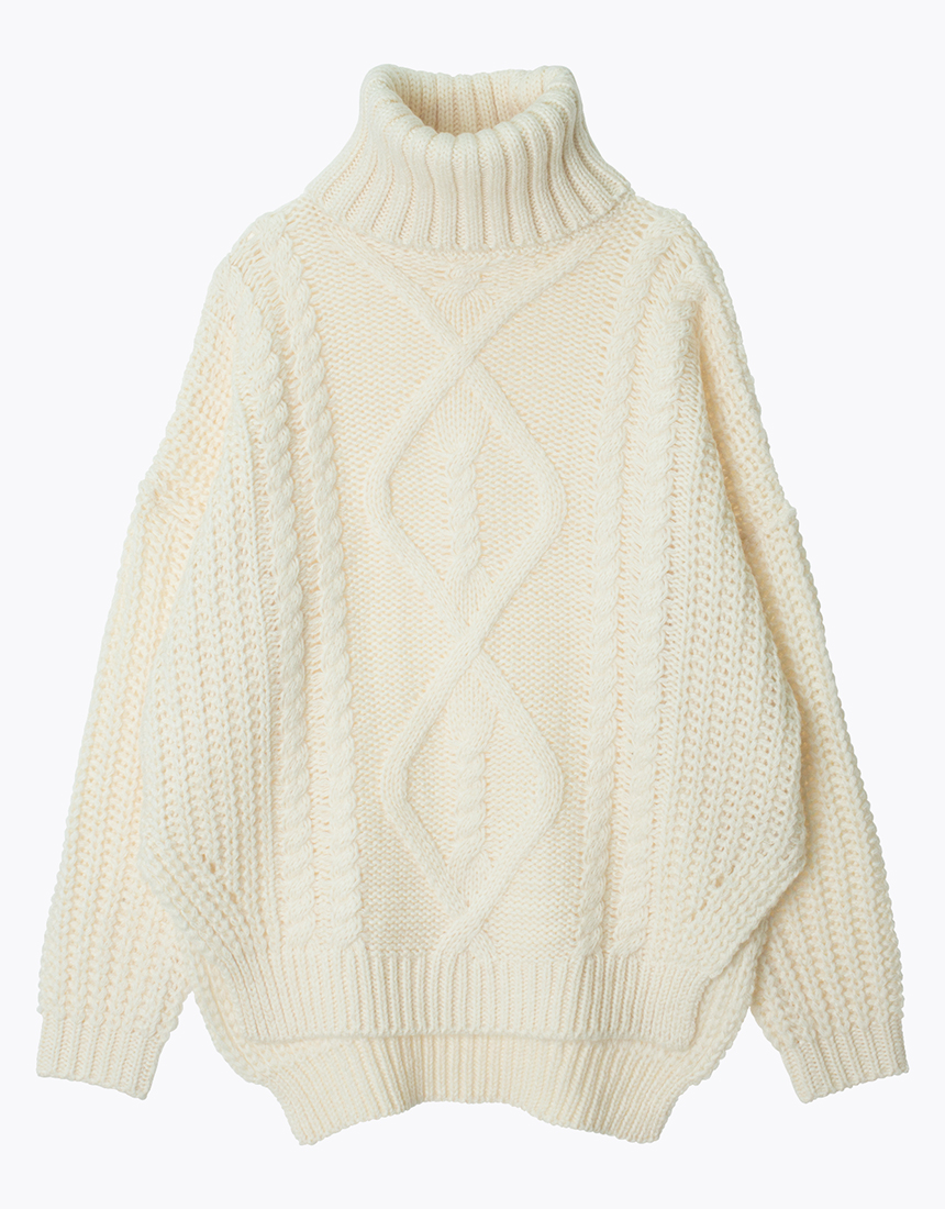 knit cable sweater chunky knit turtleneck cable sweater - annakastle.com ELVHIJI