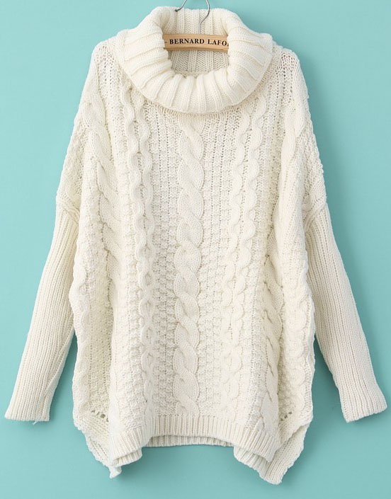 knit cable sweater white long sleeve turtleneck chunky cable knit sweater - abaday.com DPTVMCX